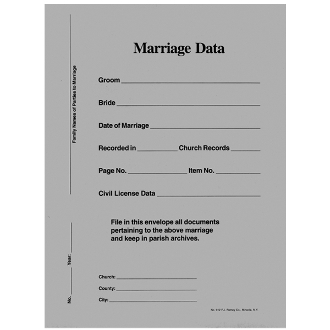 No. 912E Marriage Data Envs.