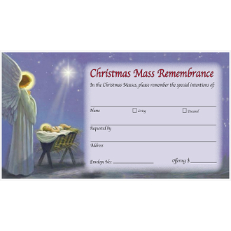 Christmas Mass Remembrance Envelope (Qty 500)