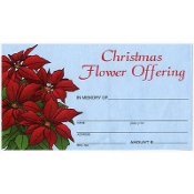 Christmas Flower Envelope (Qty 500)
