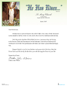 Easter Letterhead - Set, Printed & Folded (100 pcs)