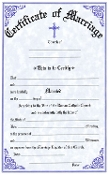 Certificates are available in various formats including Baptism, Marriage and Death Certificates.